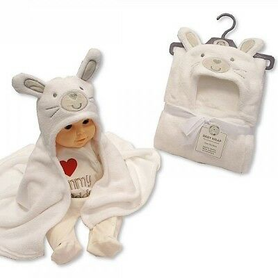 Very Soft Cute Towel Hooded Output Swim For Baby White Rabbit