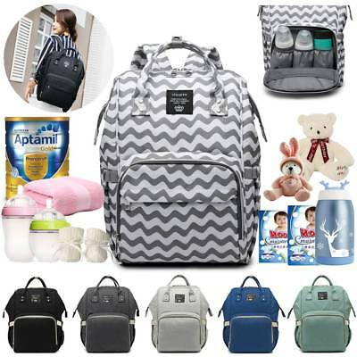 Waterproof Large Mommy Nappy Diaper Bag Baby Travel Changing Nursing Backpack