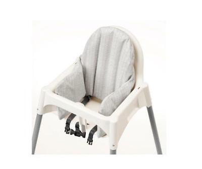 IKEA Klammig Grey Support Inflatable Cushion with Cover for Antilop Highchair