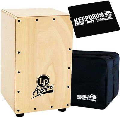 LP Latin Percussion LPA1330 Aspire Junior Cajon + keepdrum Gig Bag + Pad CP-01