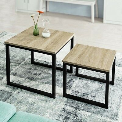 SoBuy® Set of 2 Wood Nesting Coffee Table Living Room Side End Table,FBT42-N, UK