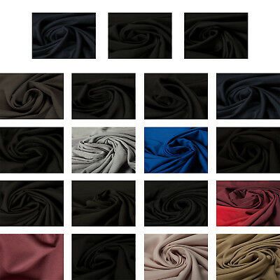 Premium Wool Blend Quality Fabric Dress Material Plain Upholstery Fashion Crafts