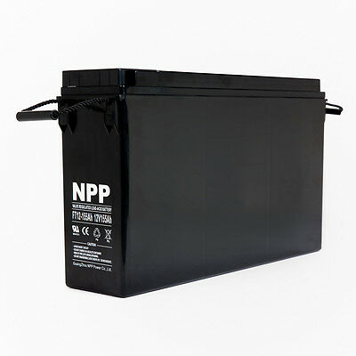 NPP FT12-155Ah Front Access  Deep Cycle 12V 155Ah Battery for Telecom  system