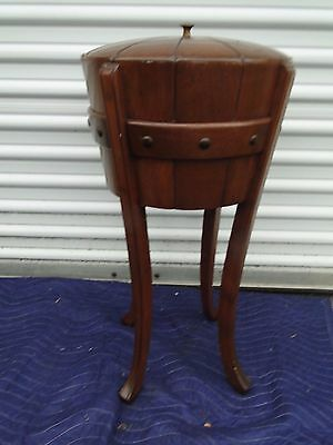Vintage Cellerette Round on Legs Sewing Stand Cabinet