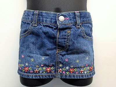 HEALTHTEX Everyday Multi-Color Embroidered Floral Cotton Skirt Sz 24 M