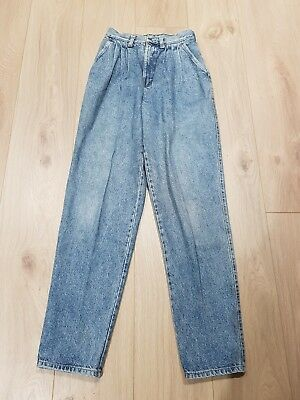 Lee womens authentic vintage blue jeans Size 10 80's denim pleated high waist