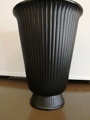 Wedgwood Black Vase 1499 Picclick Uk
