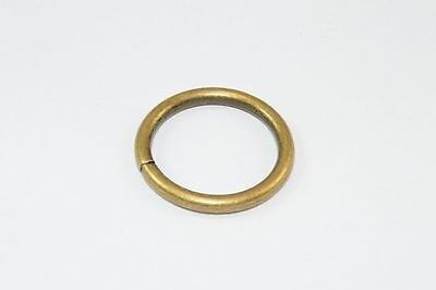 Pack x 48 Curtain Rings Antique Brass Plated Metal In.diam 25Mm