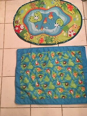 Tummy Time Floor Mats With Frog Pillow- Newborn to 6 Months