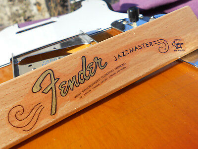 Fender Jazzmaster Decal 64-65 Vintage Style (Metallic Gold Logo)
