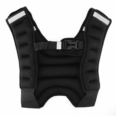 Black Weighted Vest Running Gym Fitness Cardio Training Weight Loss Jacket Sale