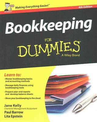 Bookkeeping for Dummies 4th UK Edition by Jane E. Kelly (English) Paperback Book