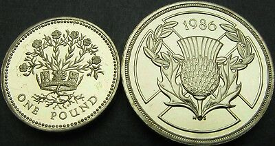 GREAT BRITAIN 1, 2 Pounds 1986 - Commonwealth Games - 2 coins - 457 ¤