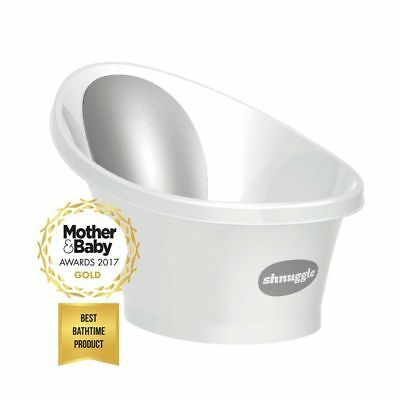 Shnuggle Baby Infant Bath Tub With Foam Back Rest Bum Bump (0-12m) - Grey