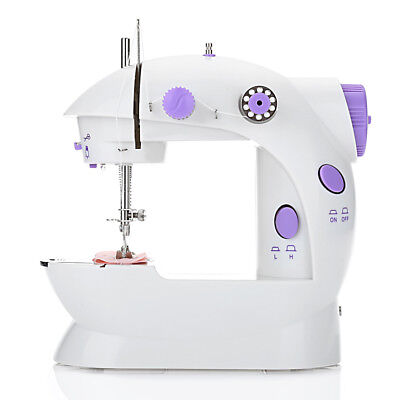 Home Desktop Sewing Machine Mini Electric Portable Hand Held Double Speed Light