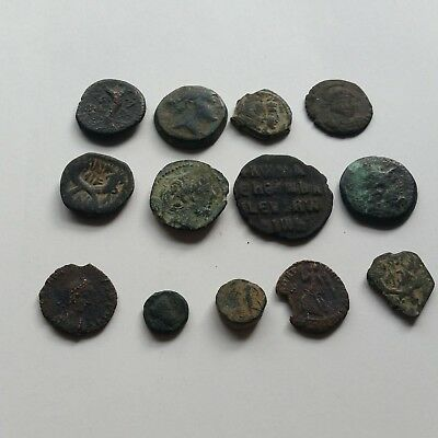 A2 Lot of 12 ancient Greek Roman Nabatean Seleucid Ptolemaic Byzantine coins