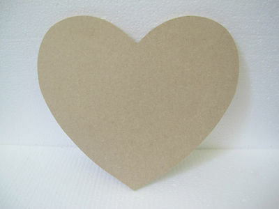 Wooden Heart Medium 130mm High & Large 200mm High 6mm Thick Premium Quality
