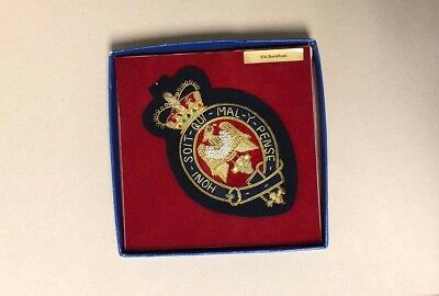 Order of the Garter Embroidered Insignia Honi Soit Qui Mal Y Pense England