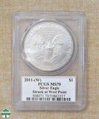 2011-W American Silver Eagle - Pcgs Slabbed - 12Th Chief Engraver Signed - Ms70