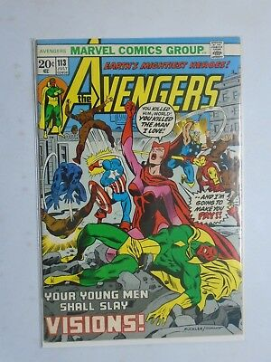 Avengers (1st Series) #113, Water Stain On Rear 5.0 (1973)
