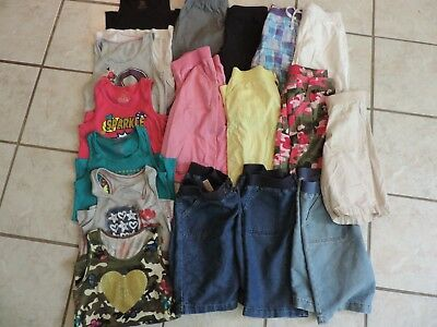Girls SUMMER CLOTHES LOT sz XL 14/16 elastic Bermuda Jean shorts Tank tops shirt