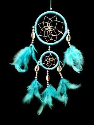 Dream Catcher with Feathers-lb2r- Wall or Car Hanging Ornament (With a