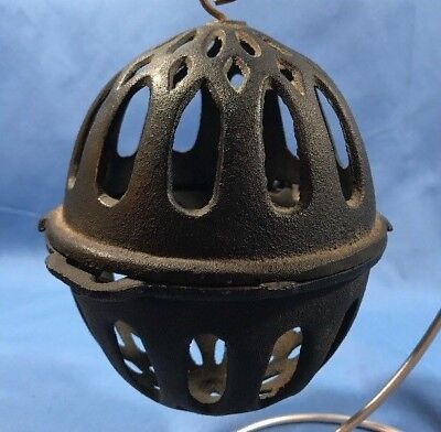 ANTIQUE BLACK CAST IRON STRING HOLDER Country Store Early LARGE