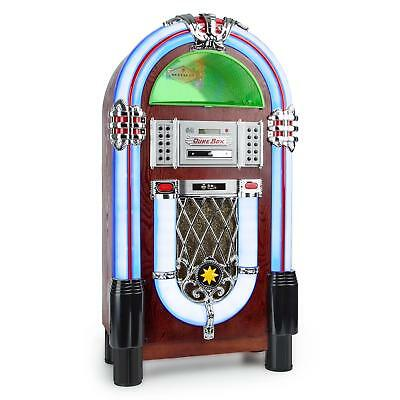 Retro Radio Jukebox Machine Player Mp3 Sound Wireless Bar Club Cd Usb Fm Vinyl