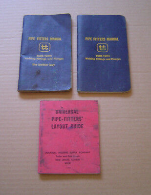 Vintage Universal Pipe-Fitters' Layout Guide & 2 Pipe Fitters Manuals