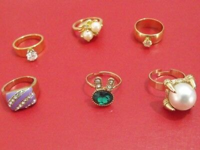 Vintage lot goldfield gold plated ring 18k gold field rings 6 original