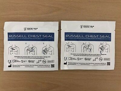 Russell Chest Seal Emergency Chest Seal Integrated Valve 20cm x 15cm Single Use