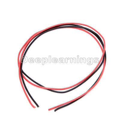 Black Red  16 AWG Gauge Wire Flexible Silicone Stranded Copper Cables For RC NEW