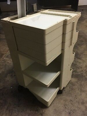 Vintage Joe Colombo Signed Rolling Boby Trolley Storage Cart Italy