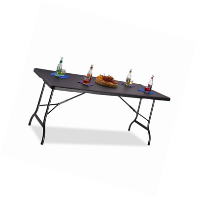 RELAXDAYS TABLE DE jardin pliable BASTIAN optique rotin grande table ...