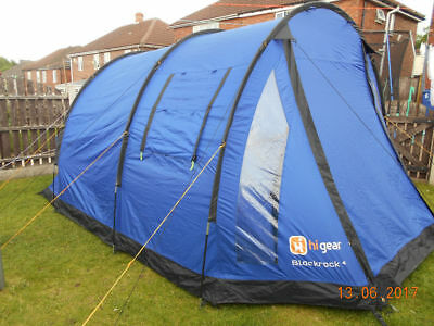 Hi Gear Blackrock 5 Black Rock 5 Man Tent Blue & HI GEAR BLACKROCK 5 Black Rock 5 Man Tent Blue - £62.00 | PicClick UK