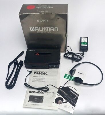 SONY WALKMAN Professional WM-D6C in Box Dolby Stereo Cassette Player Plays A+