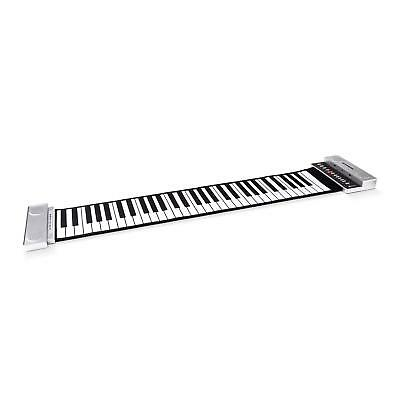 New Roll-Up Portable Electronic Keyboard Full 61 Keys Piano With Stereo Speakers