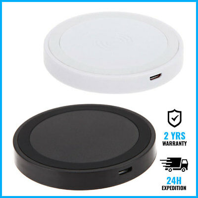 Qi Q5 Wireless Charger Charging Pad Plate Mat Dock Chargeur Recepteur Sans Fills