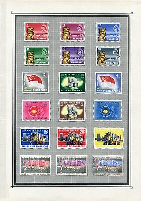 Weeda Singapore 43/128 VF LH Mint & Used 1959-1970 Commonwealth CV $199.60