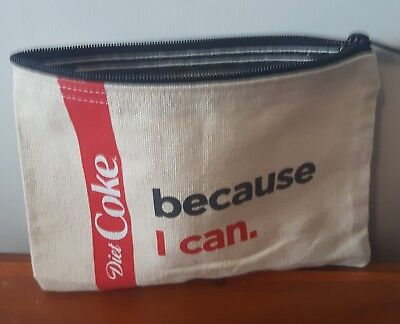 DIET COKE Because I CAN /COCA COLA canvas Cosmetic bag pencil case makeup POUCH