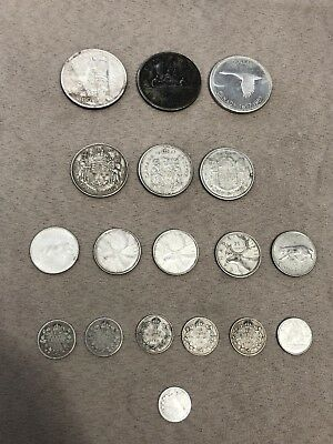 Canadian Silver Coin Lot Includes Death Dollar, Goose Dollar, Queen Victoria 5