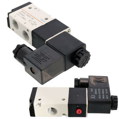 "4V210-08 DC24V 5 Way 2 Position 1/4"" Pneumatic Air Valve Electric Solenoid Valve"