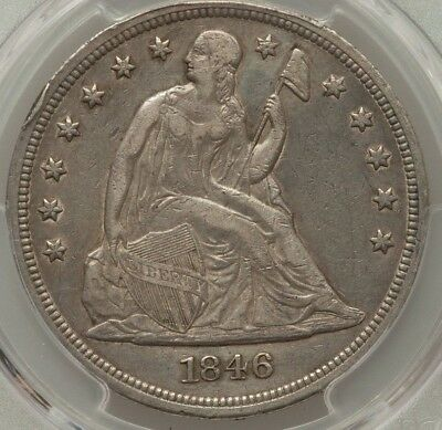 1846 Seated Liberty Dollar PCGS Genuine VF