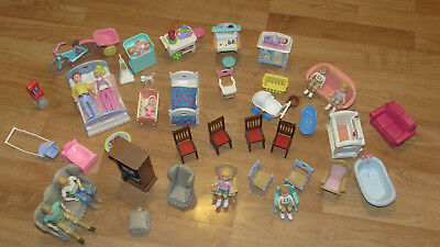 FISHER PRICE Vintage Loving Family Dolls & Furniture over 50 pieces