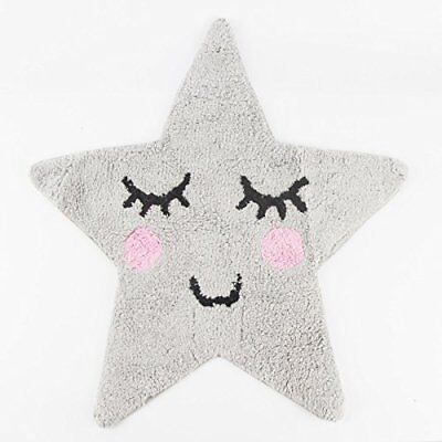 Sweet Dreams Rug, Star Design, Charming, Stylish and Practical Rug, Grey