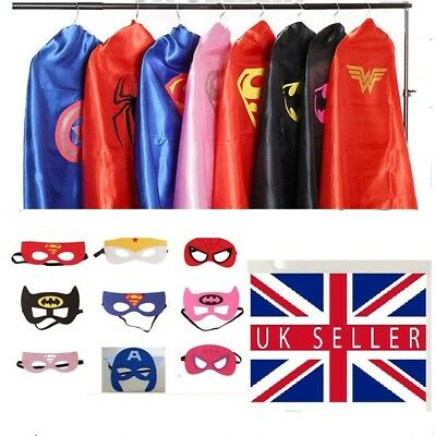 Adult Superhero Cape and Mask Batman Superman Fancy Dress Costume Stag Hen Party