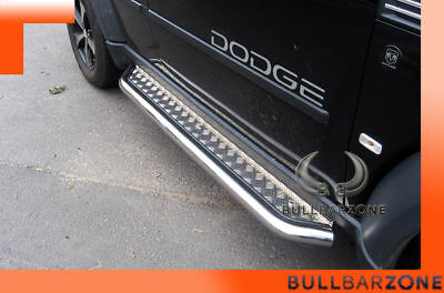 Dodge Nitro 2006-2011 Marche-Pieds Inox Plat / Protections Laterales