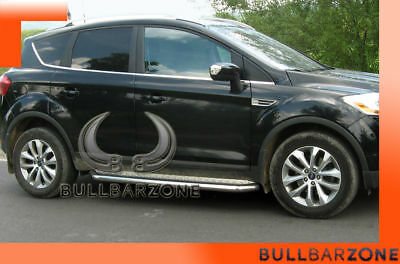 Ford Kuga 2008-2012 Marche-Pieds Inox Plat / Protections Laterales