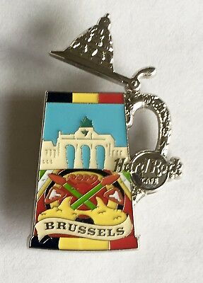 Hard Rock Cafe 2013 Brussels Beer Stein Series Pin!!!