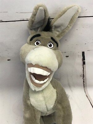 2004 Dreamworks 'Shrek 2' DONKEY Plush Stuffed Animal Doll Toy Figure 12.5""
